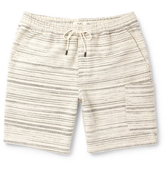 Folk Textured-Cotton Drawstring Shorts
