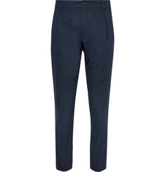 A.P.C. Pleated Cotton-Blend Twill Trousers