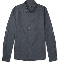 A.P.C. Reno Cotton-Chambray Shirt
