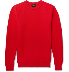 A.P.C. Marvin Textured-Cotton Sweater