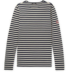 A.P.C. Matt Striped Cotton-Jersey T-Shirt