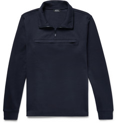 A.P.C. Cotton-Jersey Half-Zip Sweatshirt