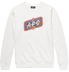 A.P.C. Slim-Fit Printed Loopback Cotton-Jersey Sweatshirt