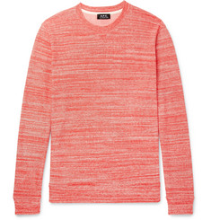A.P.C. Max Space-Dyed Knitted Cotton Sweatshirt
