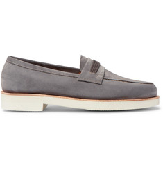John Lobb Tore Suede Penny Loafers