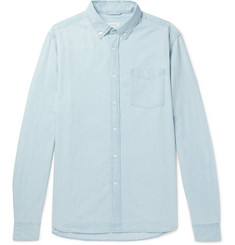 Saturdays NYC - Crosby Button-Down Collar Washed-Denim Shirt