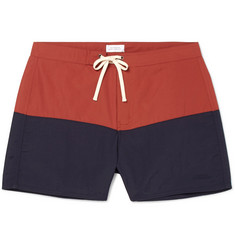 Saturdays NYC Ennis Short-Length Colour-Block Swim Shorts