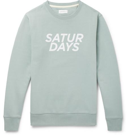 Bowery Gotham Logo Print Loopback Cotton Jersey Sweatshirt by Saturdays Nyc