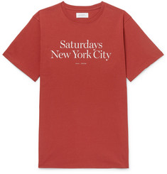 Saturdays NYC Miller Logo-Print Cotton-Jersey T-Shirt
