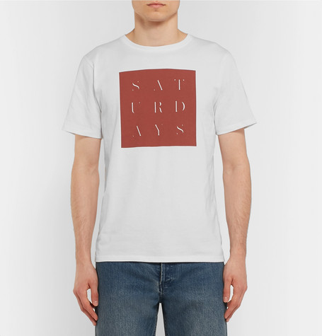 Logo Print Cotton Jersey T Shirt by Saturdays Nyc
