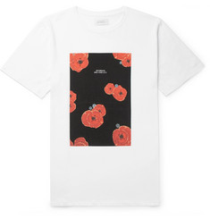 Saturdays NYC Floater Floral-Print Cotton-Jersey T-Shirt