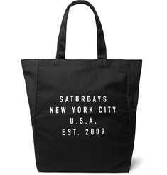 Saturdays NYC Printed Cotton-Canvas Tote Bag