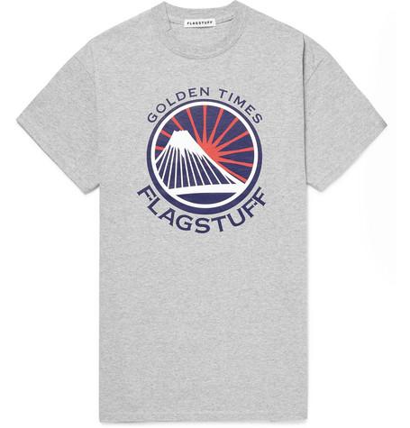 FLAGSTUFF Golden Times Printed Cotton-Blend Jersey T-Shirt