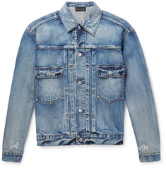 John Elliott Thumper Distressed Denim Jacket