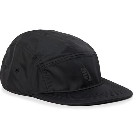 Nike Nrg Aw84 Logo-AppliquÉD Dri-Fit Baseball Cap In Black ... c7499b1569c