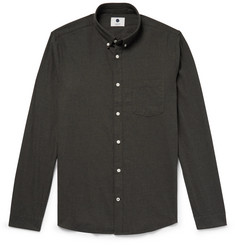 NN07 - Sixten Button-Down Collar Cotton-Flannel Shirt