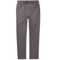 NN07 Lenny Wool and Linen-Blend Drawstring Trousers