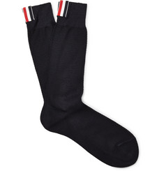 Thom Browne Cotton-Piqué Socks