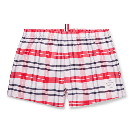 Thom Browne – Checked Cotton Oxford Boxer Shorts – Red