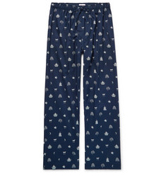 Derek Rose Nelson Printed Cotton Pyjama Trousers