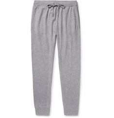Derek Rose Finley Slim-Fit Tapered Mélange Cashmere Sweatpants