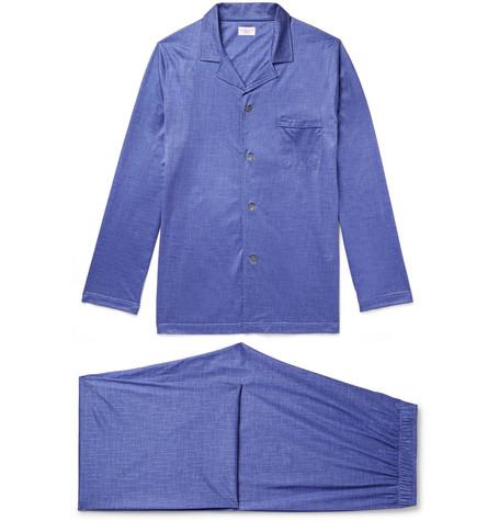 Excellent Online Outlet Low Cost Bari Checked Cotton Pyjama Set Derek Rose X09Ifqwt