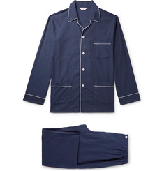 Derek Rose Balmoral Herringbone Cotton Pyjama Set
