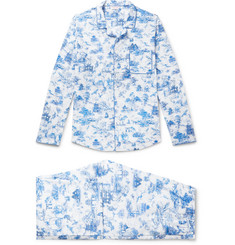 Derek Rose Ledbury 11 Printed Cotton Pyjama Set