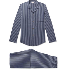 Derek Rose Royal 211 Striped Cotton Pyjama Set