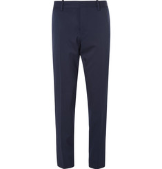 Berluti Navy Stretch-Wool Twill Suit Trousers