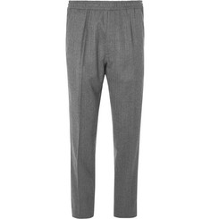 Berluti - Grey Slim-Fit Tapered Herringbone Wool Drawstring Suit Trousers