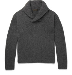 Berluti Shawl-Collar Cashmere and Mohair-Blend Sweater