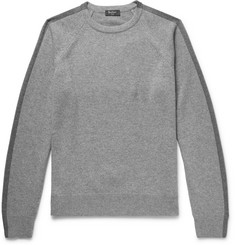 Berluti Two-Tone Wool and Cashmere-Blend Sweater