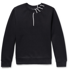 Craig Green Lace-Detailed Bonded-Jersey Sweatshirt