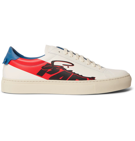 Urban Street Printed Leather Sneakers by Givenchy