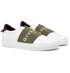 Givenchy - Urban Street Logo-Print Leather Slip-On Sneakers