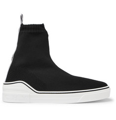 Givenchy George V Logo-Jacquard Stretch-Knit High-Top Slip-On Sneakers