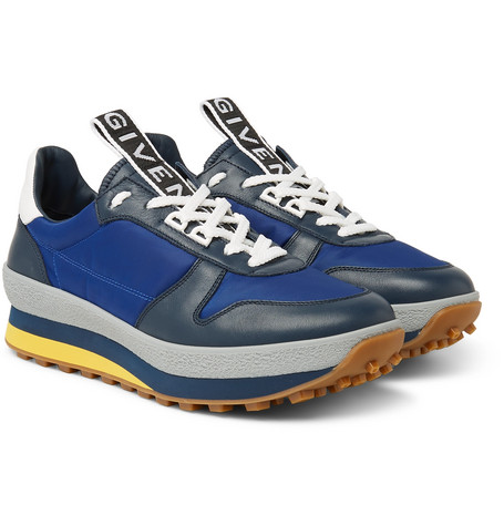 Tr3 Leather And Shell Sneakers