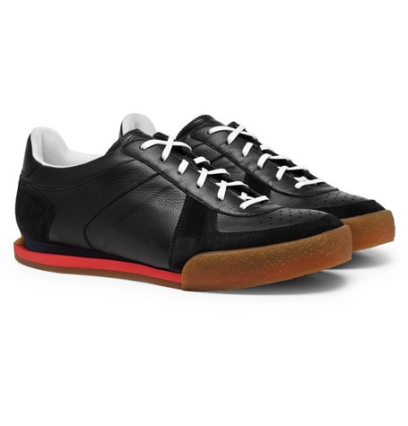 Set3 Full-grain Leather And Suede Sneakers Givenchy