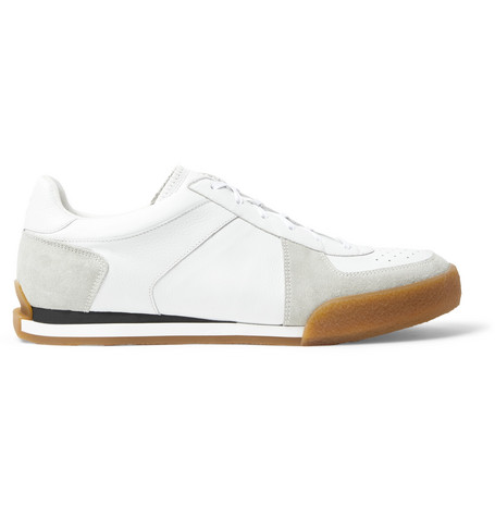 GIVENCHY SET3 FULL-GRAIN LEATHER AND SUEDE SNEAKERS