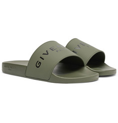 Givenchy - Logo-Print Rubber Slides