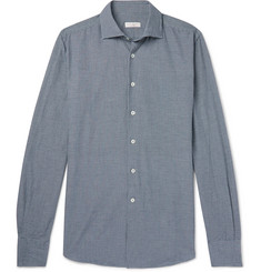 Incotex Ween Slim-Fit Cutaway-Collar Checked Cotton Shirt