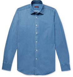 Incotex Kurt Slim-Fit Cotton-Chambray Shirt