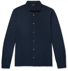 Incotex Slim-Fit Cutaway-Collar Cotton-Jersey Shirt