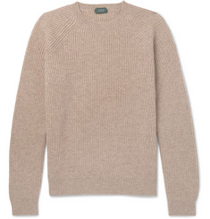 Incotex - Ribbed Mélange Virgin Wool Sweater