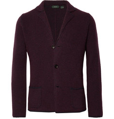 Incotex Textured Virgin Wool Cardigan