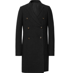 Rick Owens - Double-Breasted Mélange Virgin Wool-Blend Coat