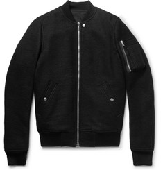 Rick Owens - Boiled Virgin Wool Bomber Jacket