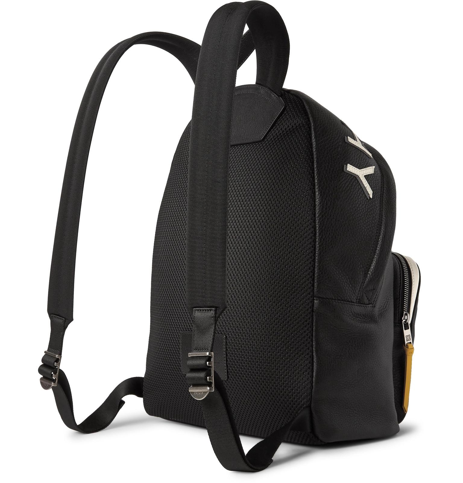 2b975774c8 Givenchy - MC3 Appliquéd Full-Grain Leather Backpack