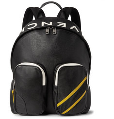 Givenchy - MC3 Appliquéd Full-Grain Leather Backpack
